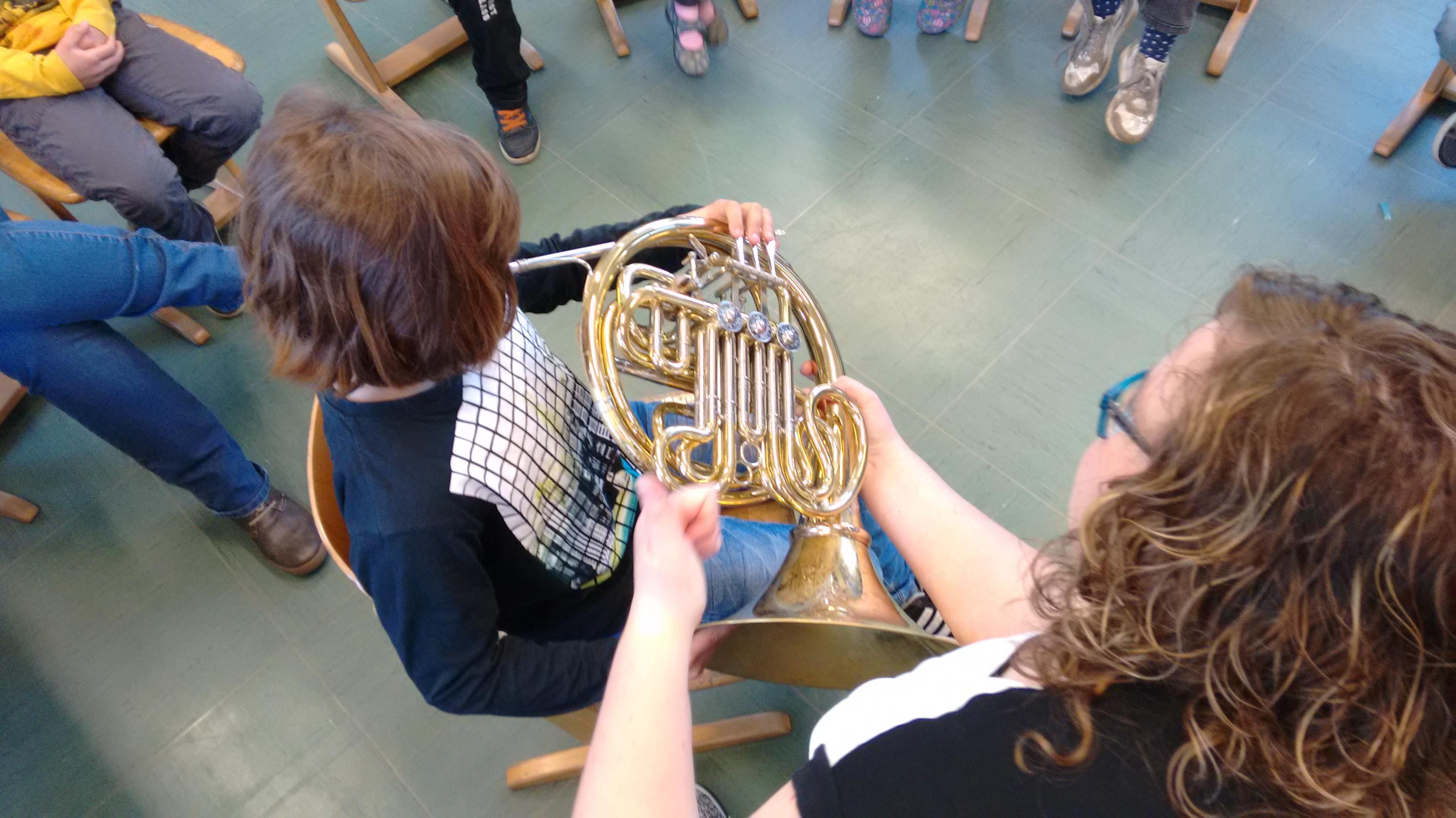 Instrumentenkarussell der Bläserklasse
