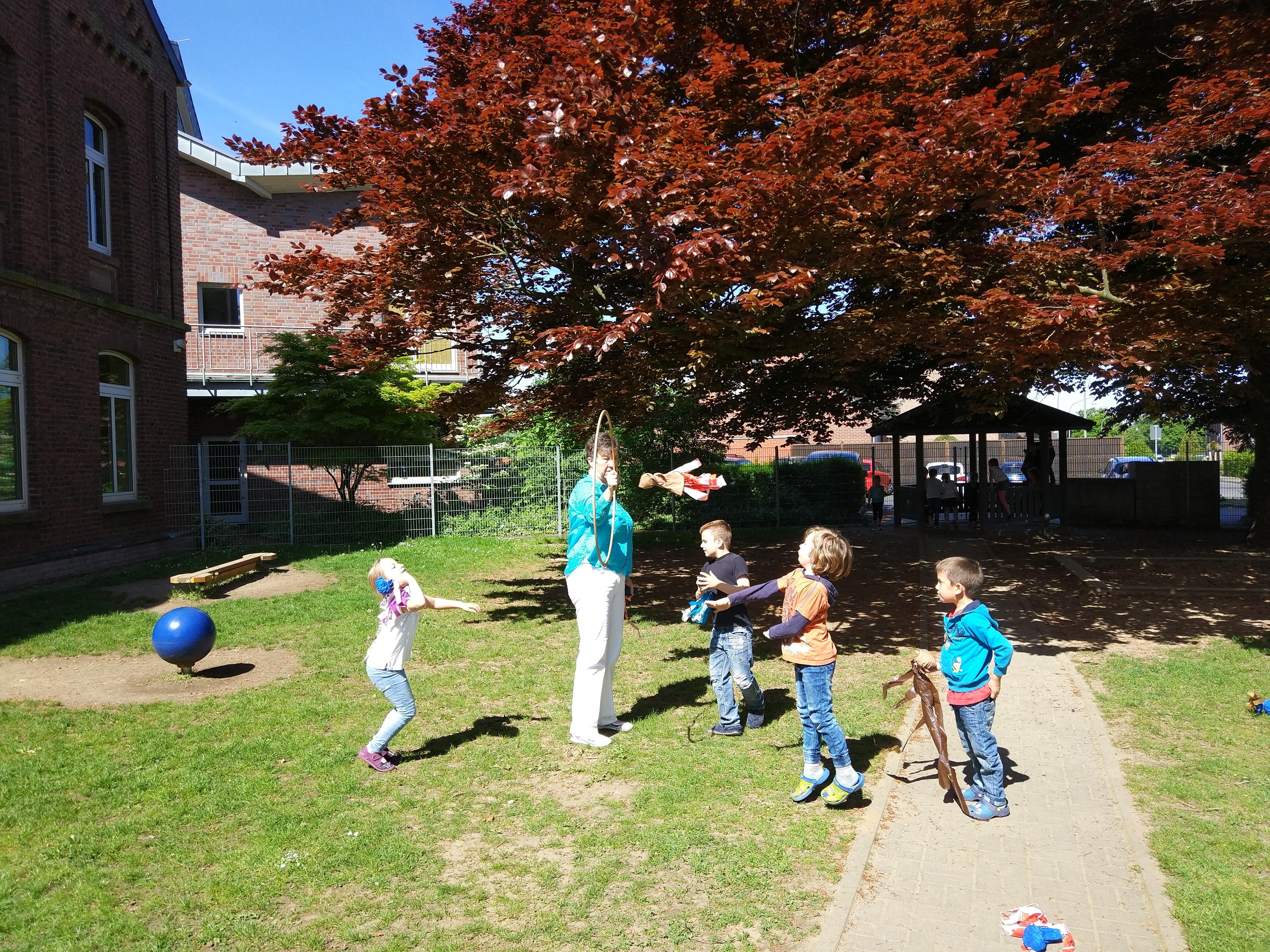Bewegungsspiele in der Gesundheitswoche